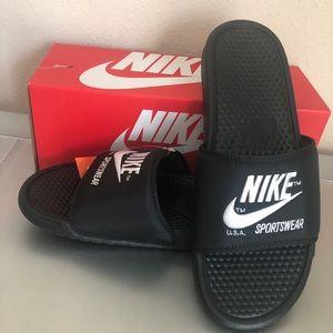 Men's Nike Slides Benassi JDI Text SE size 12